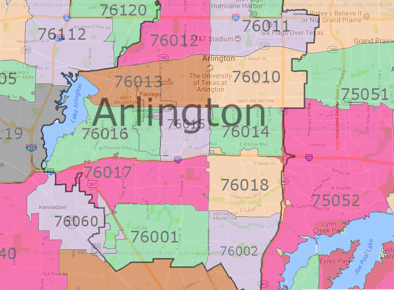 3 Best Arlington TX Zip Code Map Options | Arlington Texas Today
